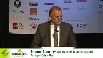 RuraliTIC 2018 : Intervention introductive de Etienne Blanc 1er vice-président du Conseil Régional Auvergne-Rhône-Alpes