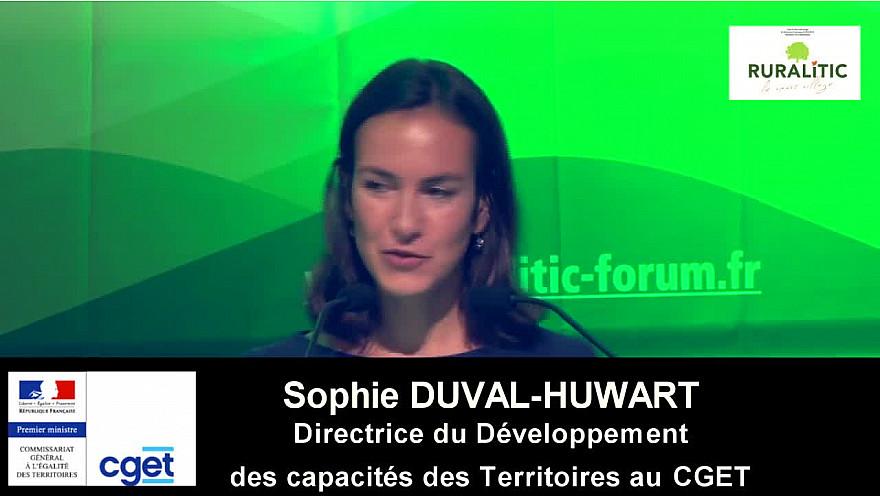 Ruralitic 2019: allocution de Sophie DUVAL-HUWART Directrice du Développement des Capacités des Territoires au CGET @CGET_gouv @j_gourault @RURALITIC2019